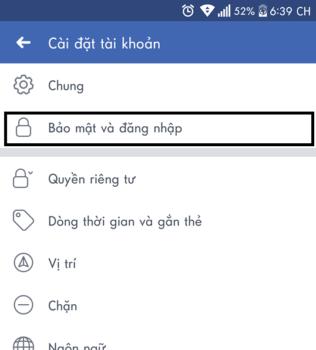 doi mat khau facebook dien thoai oppo