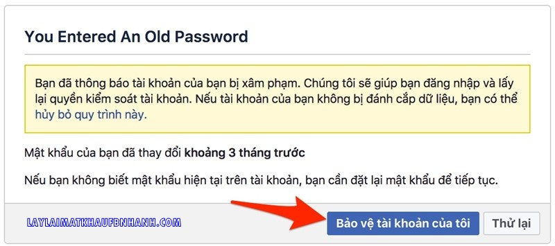 Lay lai mat khau facebook bi hack