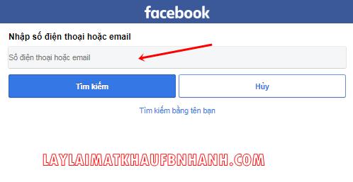 lay lai mat khau facebook khong can email