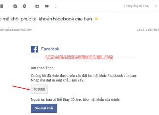 doi mat khau facebook khi quen mat khau