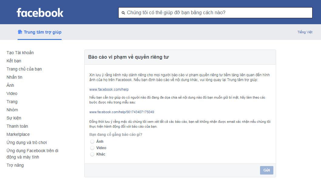 Link contact facebook