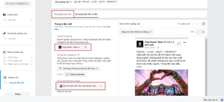 chạy quảng cáo trên facebook