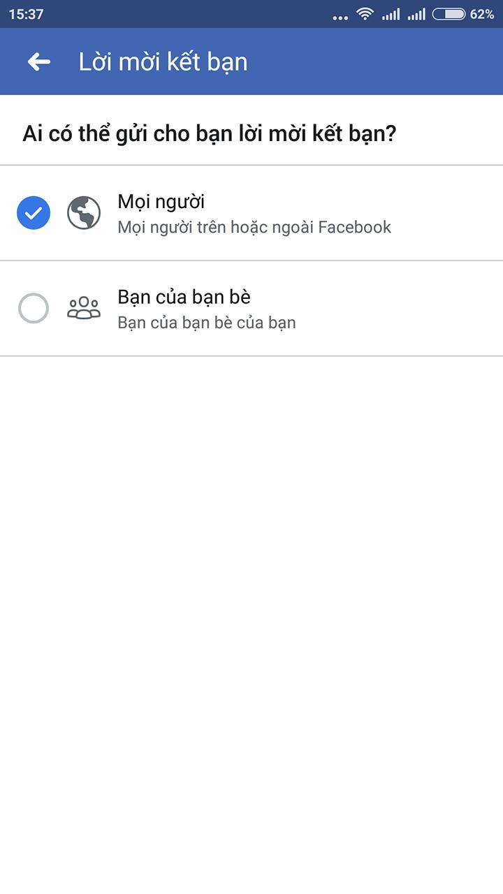 bật nút kết bạn trên facebook