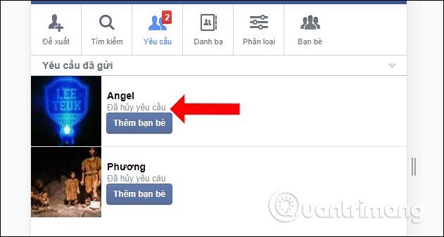 huỷ hàng loạt lời mời đã gửi trên facebook