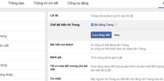 khắc phục fanpage facebook bị ẩn không xem được