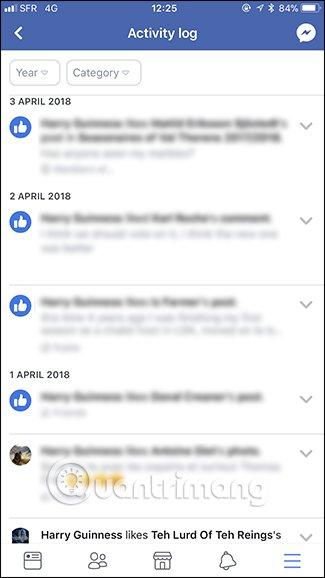 xóa lịch sử tìm kiếm trên facebook